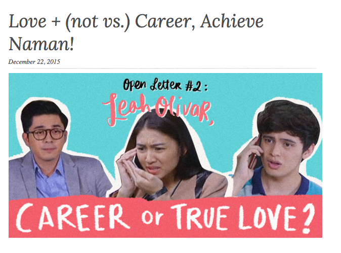 Love + (not vs.) Career, Achieve Naman!