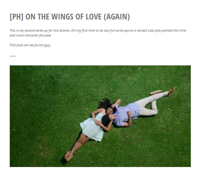 On the Wings of Love (Again)